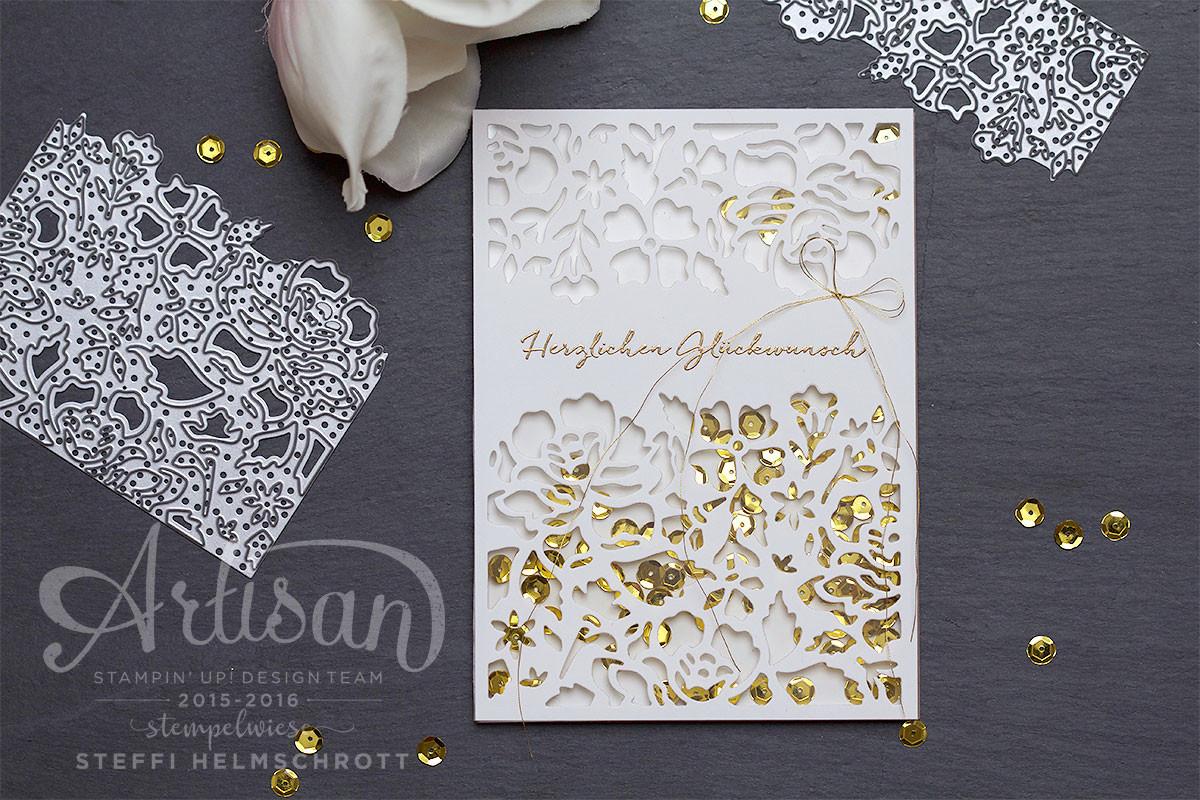Bastelideen Goldene Hochzeit  Bastelideen zur Hochzeit • Stempelwiese