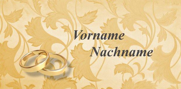 Bastelideen Goldene Hochzeit  Tischkarten Goldene Hochzeit kostenlose Vorlagen