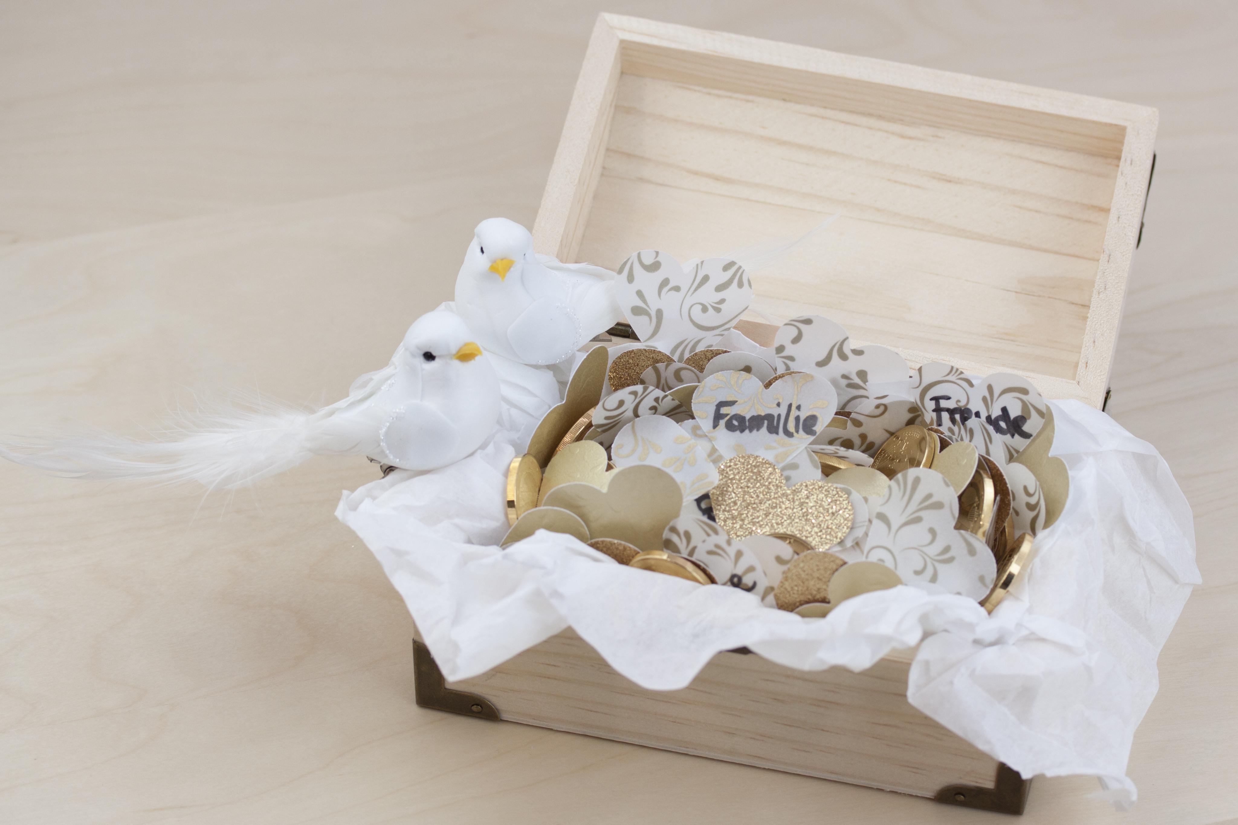 Basteln Für Hochzeit  Schatzkiste zur Hochzeit