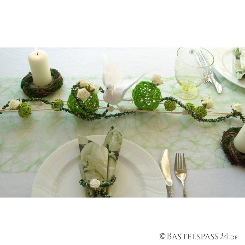 Basteln Für Hochzeit  Tischdekoration in weiß grün für Hochzeit Günst