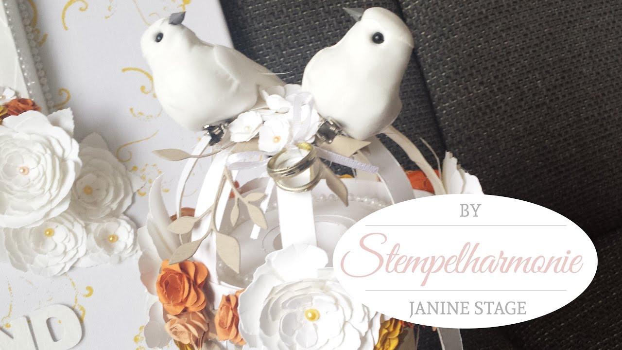 Basteln Für Hochzeit  Bastelanleitung Vogelkäfig als Spardose für Hochzeit