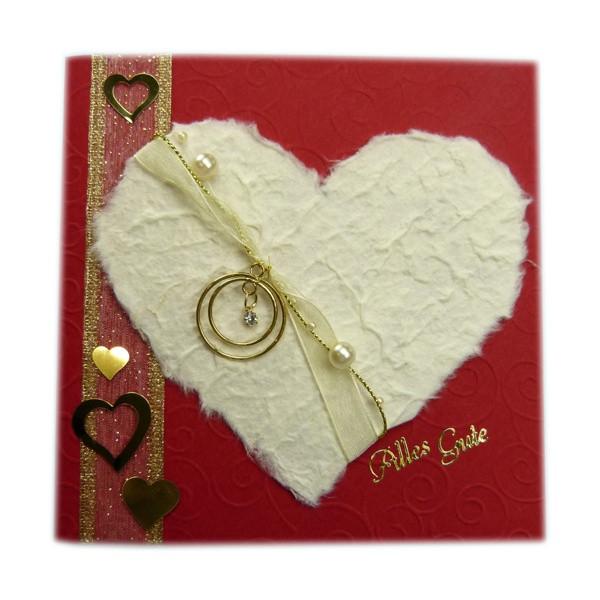 Basteln Für Hochzeit  Eine Glückwunschkarte für goldene Hochzeit