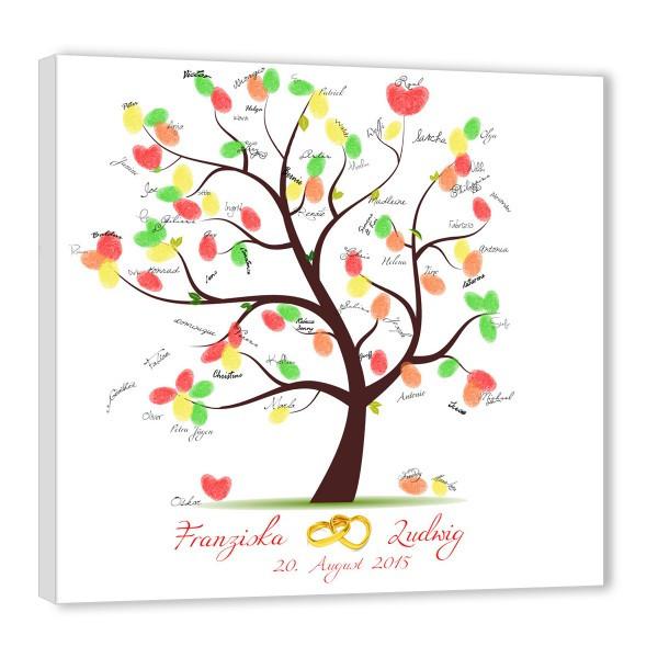 Baum Zur Hochzeit  Fingerabdruck Baum