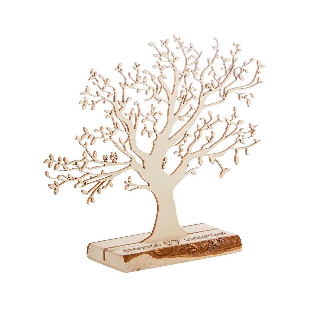 Baum Zur Hochzeit  Personalisierter Baum mit Sockel graviert zur Hochzeit