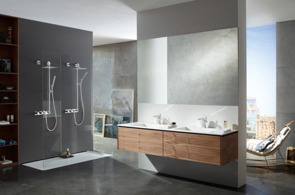 Begehbare Dusche  Badgestaltung Ideen nach den neusten Trends schauen Sie
