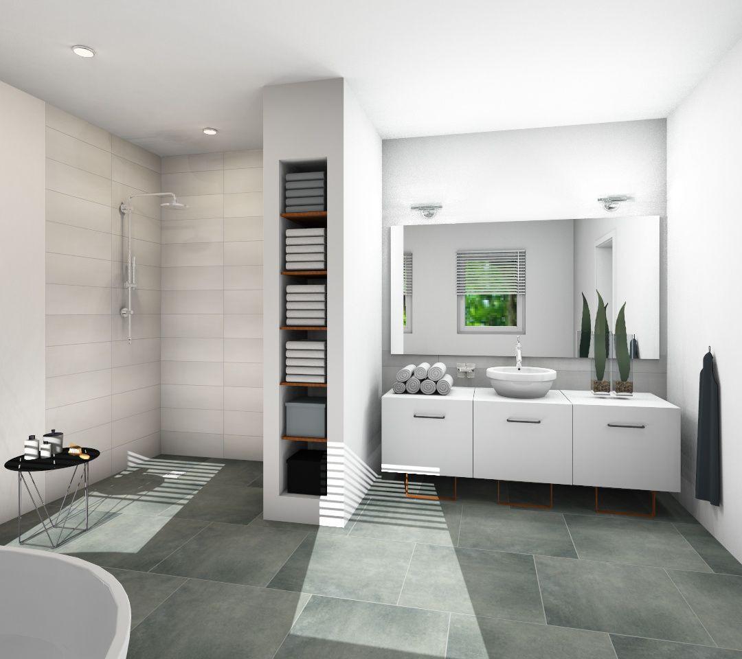 Begehbare Dusche  Design auf ganzer Linie BATHROOM