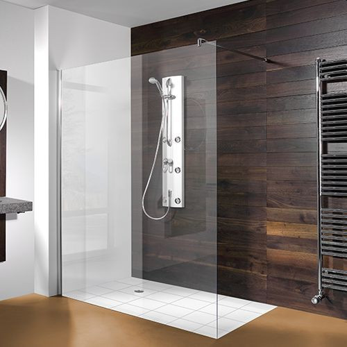 Begehbare Dusche  Duschwand 140x200 cm badewannen24 bodengleiche