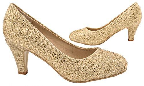 Bequeme Pumps Hochzeit  Damen Pumps Spitze Pastell High Heels Schuhe Strass