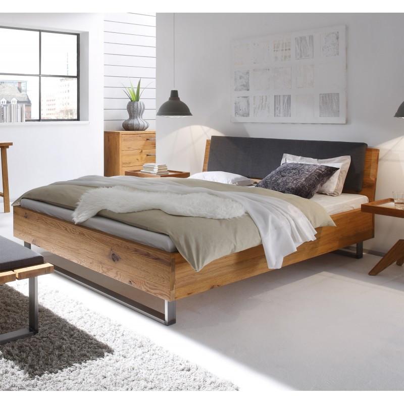 Bett 200x220  Hasena Oak Wild Wildeiche Bett Füße Indus Kopfteil Sion