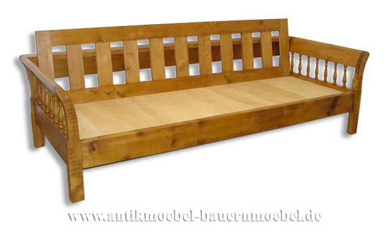 Bett 80x200  Bett Gästebett Bettsofa 80x200 Landhausstil Weichholz Vollholz