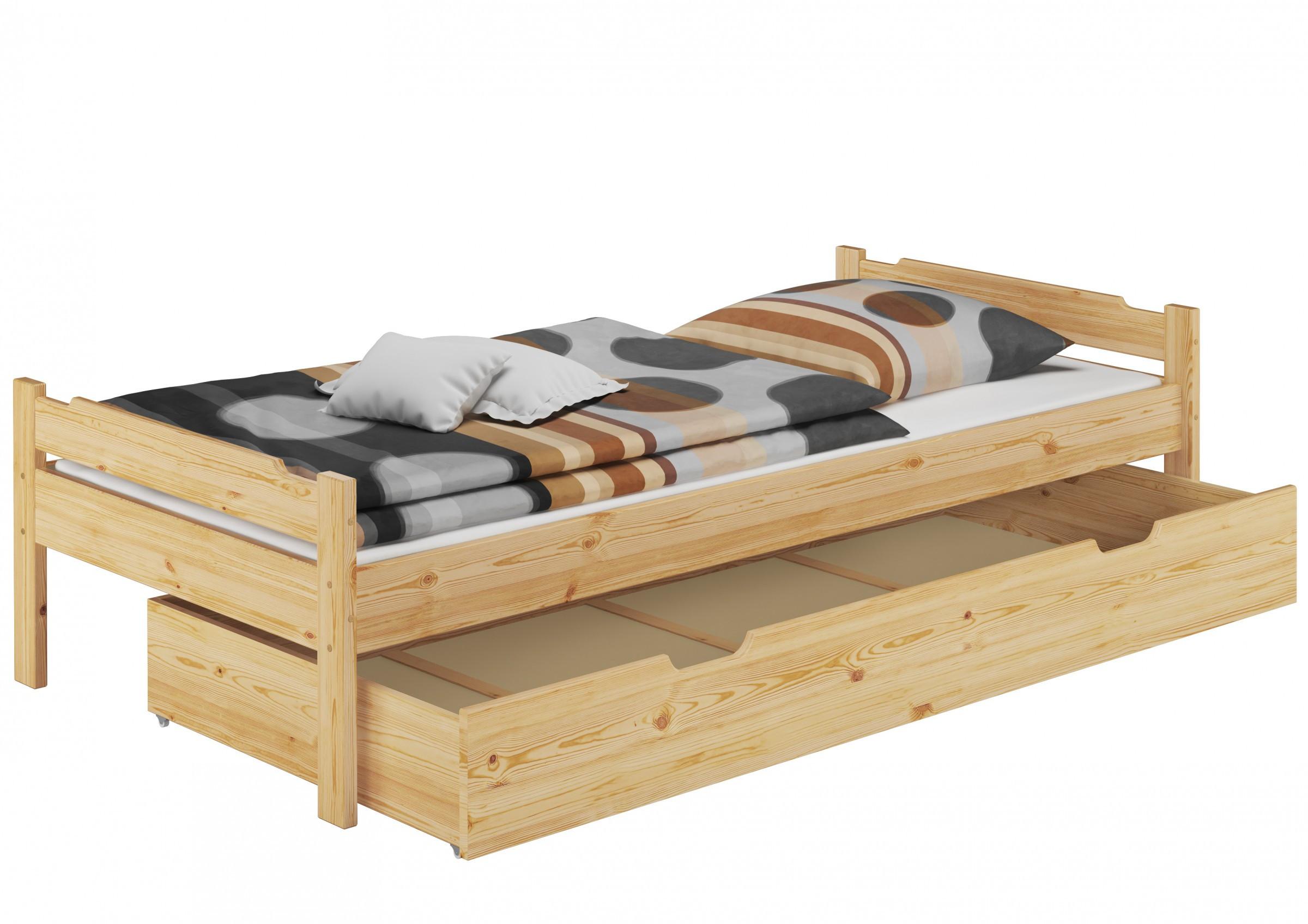 Bett 80x200  Bett 80x200 Einzelbett Jugenbett Kiefer natur Rollrost
