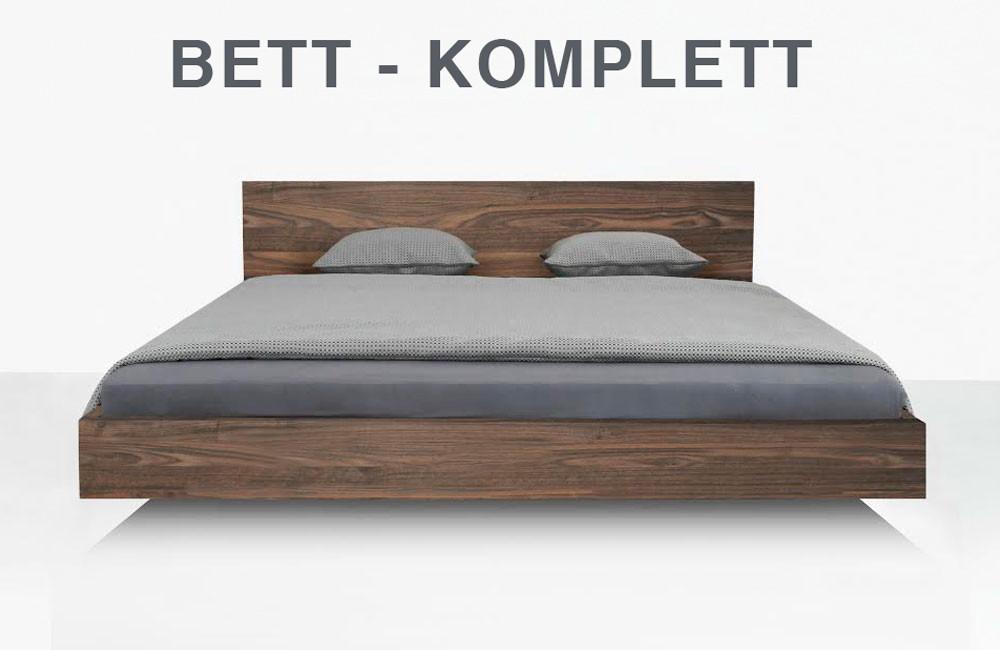 Bett Komplett  Bett Set Bett mit Matratze Classify s Nussbaum