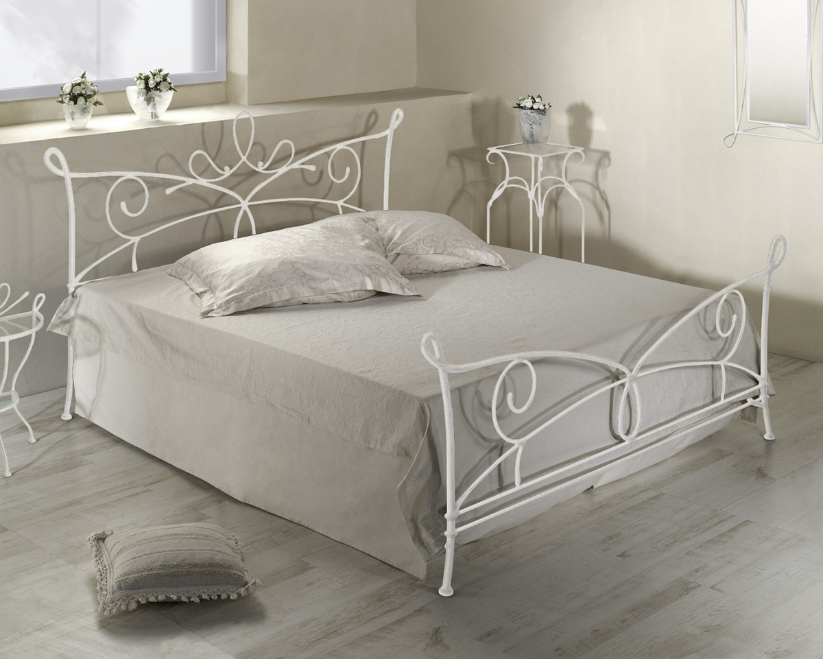 Bett Metall  Doppelbett aus Metall in 140x200 cm Anthrazit Porco