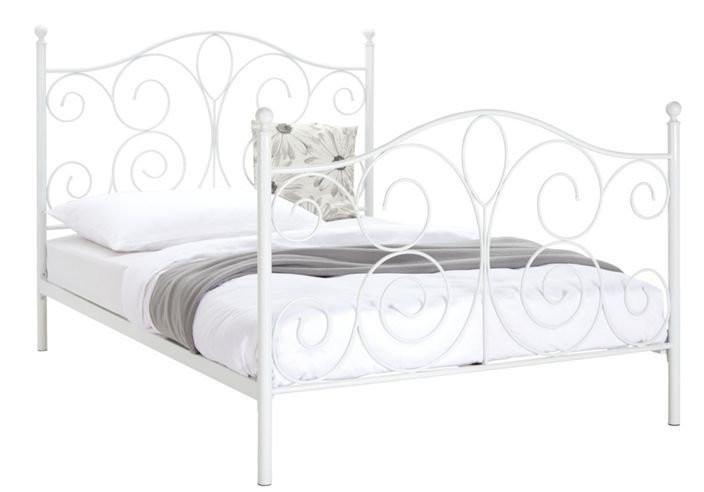 Bett Metall  Carryhome Bett In Metall Weiß weiß nur 99 00 € statt 233
