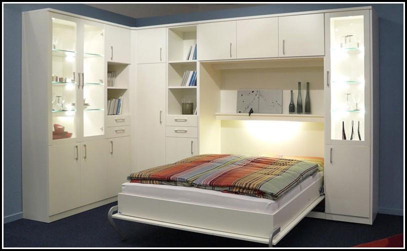 Bett Mit Schrank  Bett Im Schrank Selber Bauen Betten Hause Dekoration