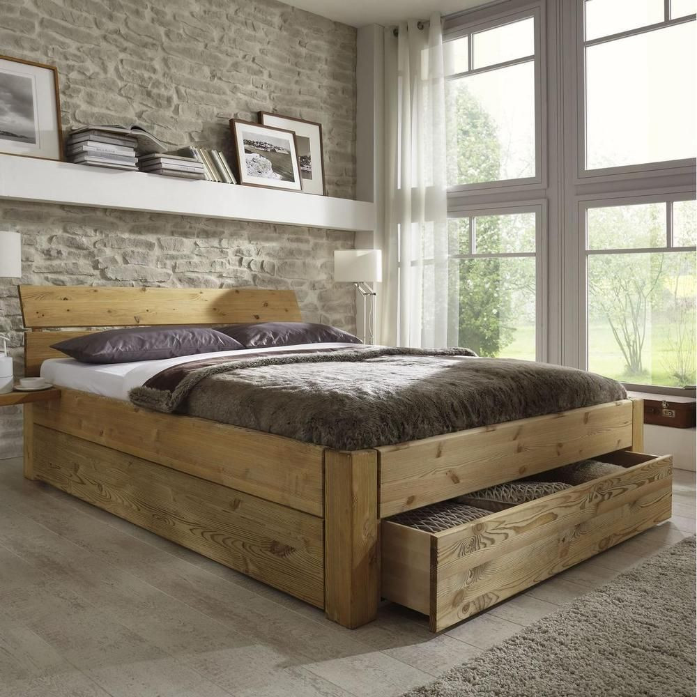 Bett Mit Schubladen 180x200  Best 25 Bett 180x200 holz ideas on Pinterest