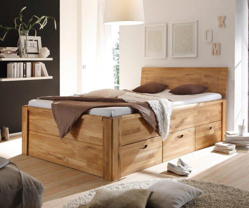Bett Mit Schubladen 180x200  Bett Massivholz massiv Schubladen 140x200 180x200 Bett