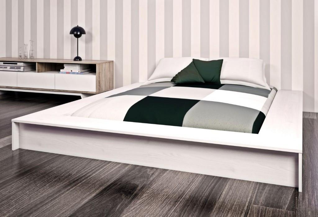 Bettgestell 1 40x2 00  Bettgestell SEATTLE Bett 140 x 190 cm Schlafzimmer Lärche
