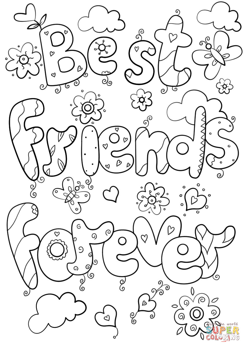 Bff Ausmalbilder  Best Friends Forever coloring page