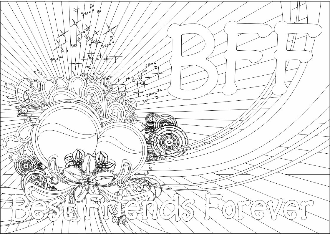 Bff Ausmalbilder  ColorMeCrazy New BFF Coloring Pages