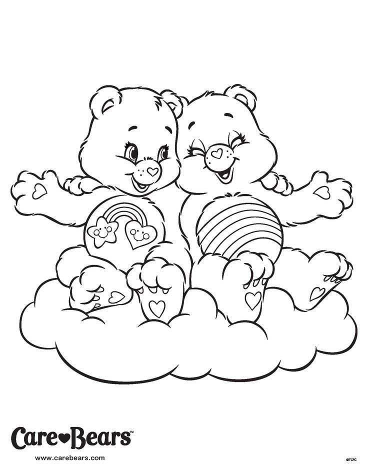 Bff Ausmalbilder  Cheer and Best Friend Bear coloring page