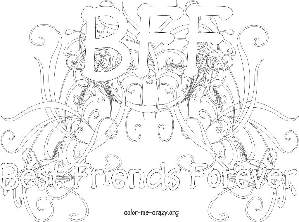 Bff Ausmalbilder  ColorMeCrazy September 2011