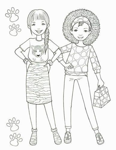 Bff Ausmalbilder  Details about Princess Fashion Coloring Book Girl Art
