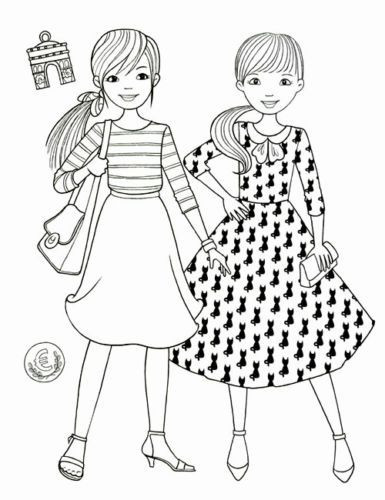 Bff Ausmalbilder  Princess Fashion Coloring Book Girl Art Therapy