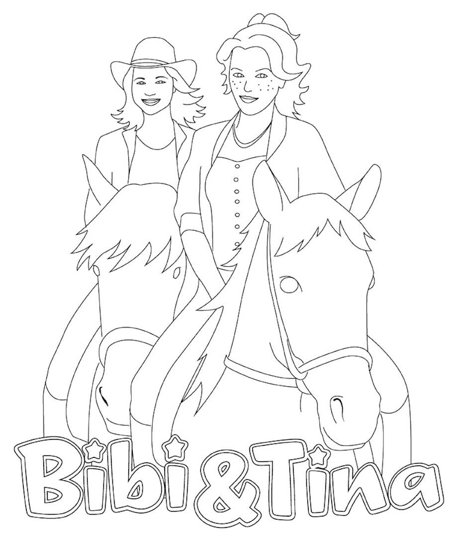 Bibi Und Tina 4 Ausmalbilder  Ausmalbilder bibi und tina kostenlos Malvorlagen zum