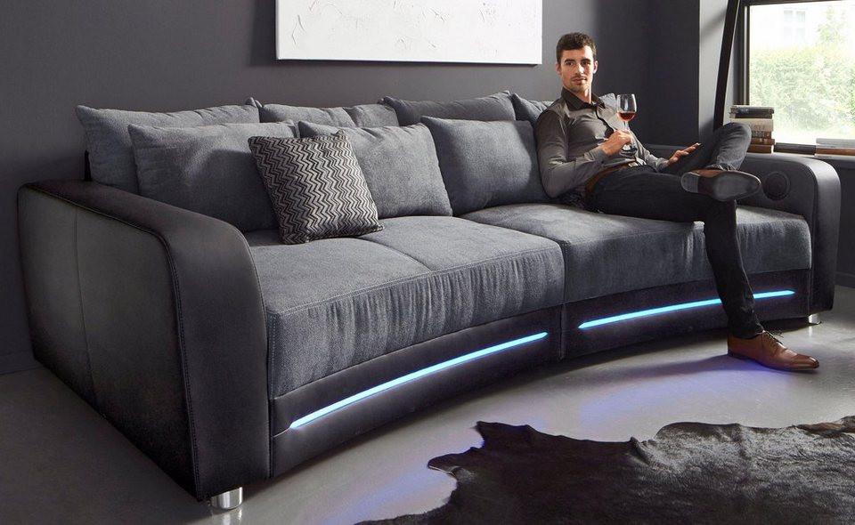 Big Sofa Günstig  Big Sofa inklusive RGB LED Beleuchtung kaufen