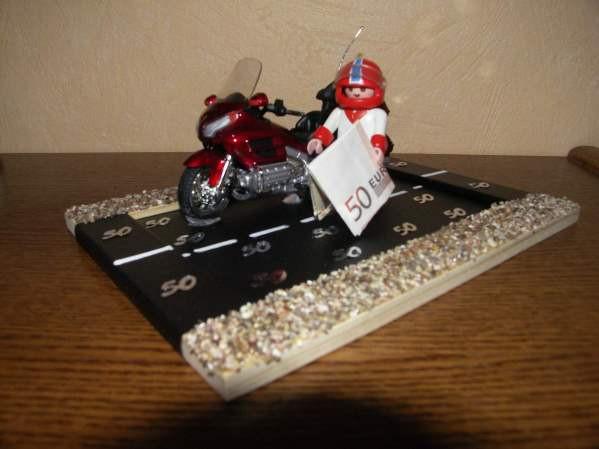 Biker Geschenke  Ein Geldgeschenk für ein Motorrad