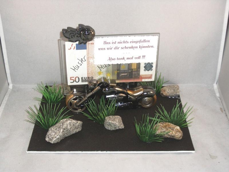 Biker Geschenke  Geldgeschenk Motorrad Biker Moped als Geschenkidee