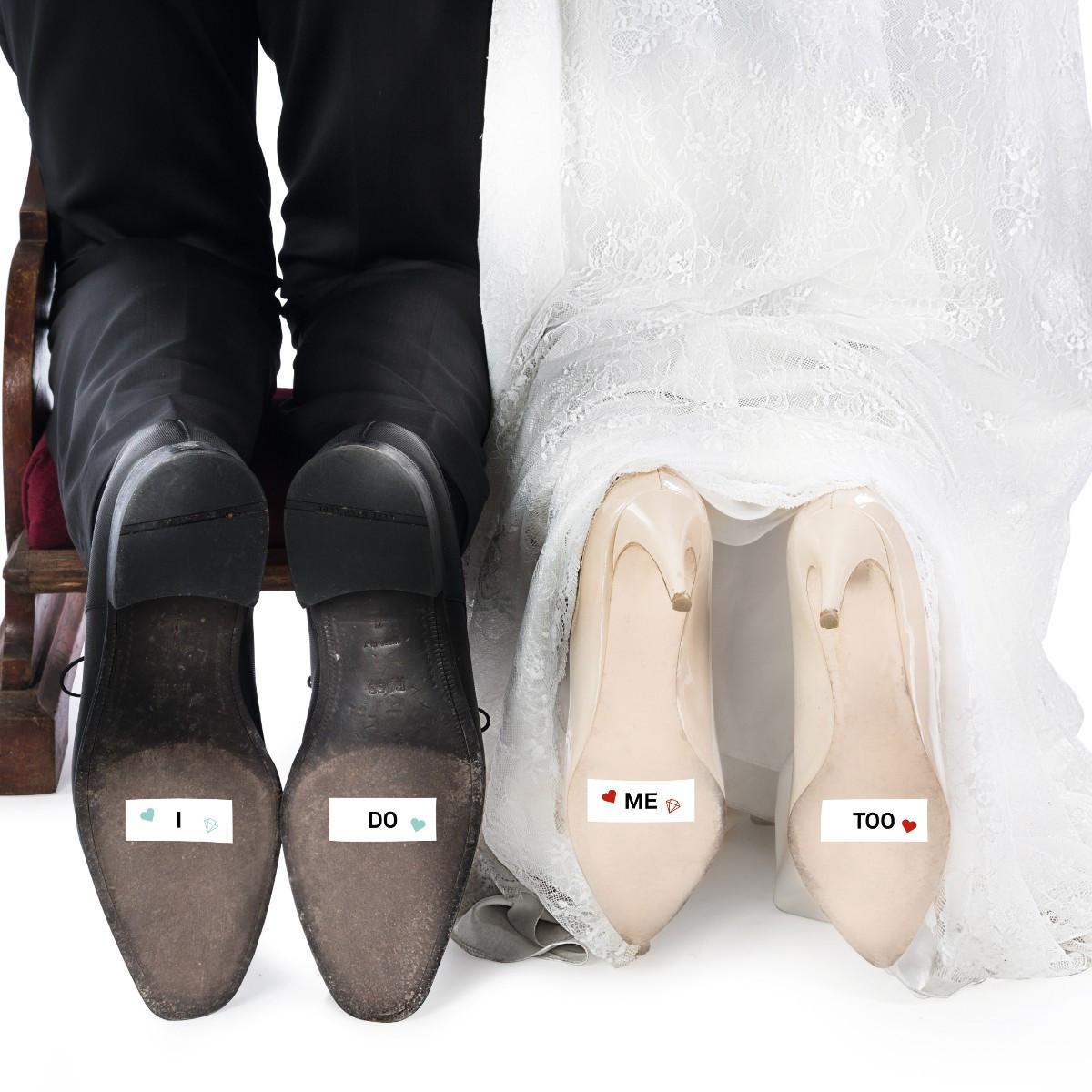 Bilder Hochzeit  Witzige Schuhsohlen Aufkleber zur Hochzeit