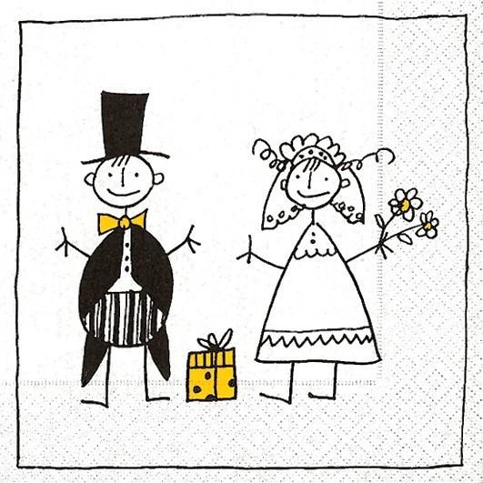 Bilder Hochzeit Lustig  Lunch Servietten Hochzeit bedruckt Design JUST MARRIED