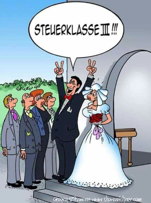 Bilder Hochzeit Lustig  Steuerklasse III Hochzeit