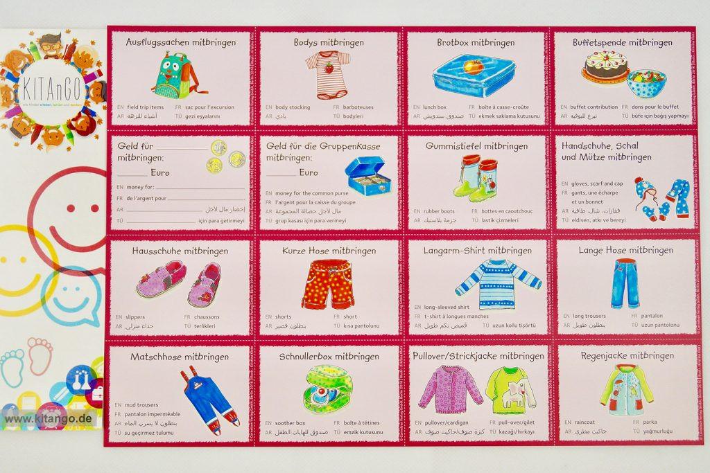 Bitte Keine Geschenke Mitbringen  Orientierungshilfe Bildkarten Kein Chaos mehr in Kitas
