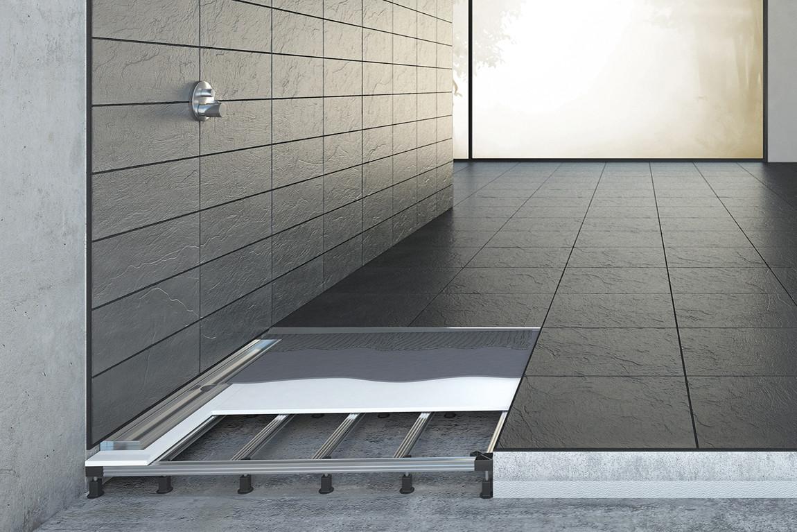 Bodengleiche Dusche  Bodengleiche Dusche einbauen Einbautiefe Gefälle Estrich