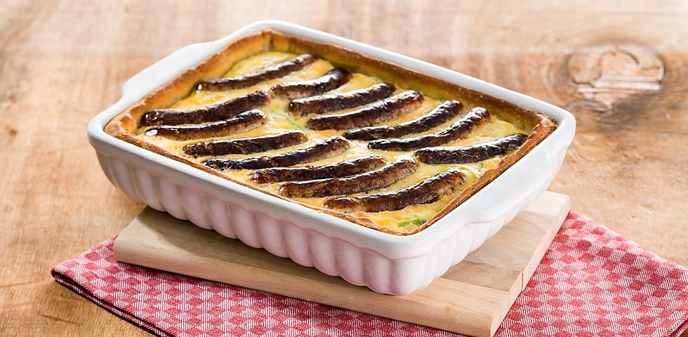 Bratwurst Kuchen  Bratwurst Lauch Kuchen Schutzverband Nürnberger