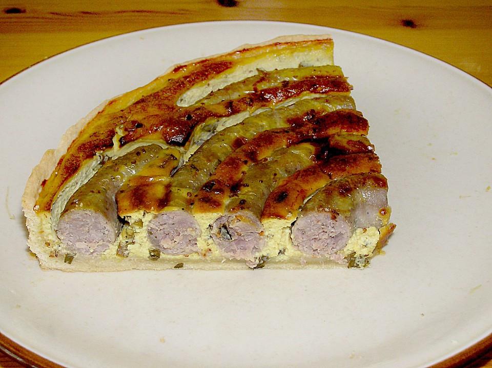 Bratwurst Kuchen  Bratwurst Torte mit Senfkruste Rezept mit Bild