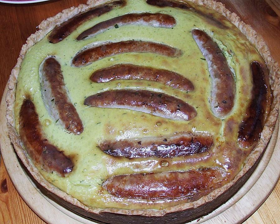 Bratwurst Kuchen  Bratwurst Torte mit Senfkruste von haianne