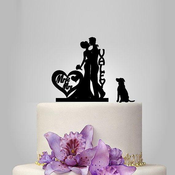 Brautpaar Hochzeitstorte  Brautpaar Hochzeitstorte TOPPER Hund Hochzeitstorte von