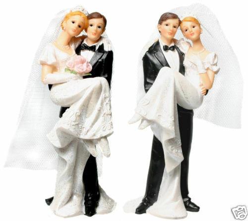 Brautpaar Hochzeitstorte  Tortenaufsatz Brautpaar Figur Hochzeitstorte 13 cm