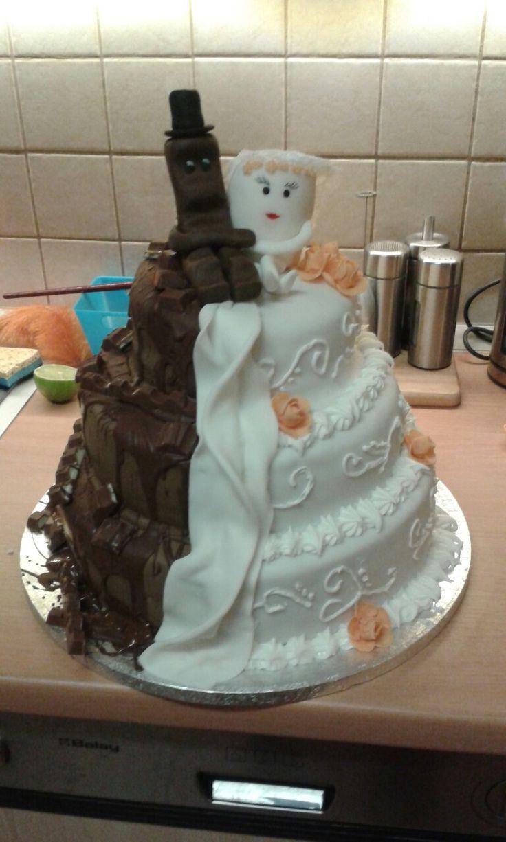Brautpaar Hochzeitstorte  Die besten 25 Hochzeitstorte kinderriegel Ideen auf