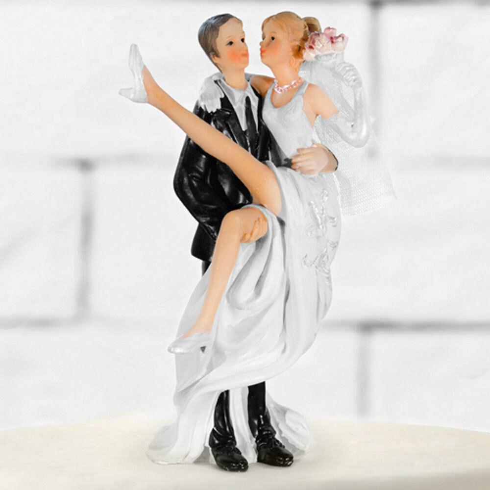 Brautpaar Hochzeitstorte  TORTENFIGUR HOCHZEIT BRAUTPAAR Tortenaufsatz