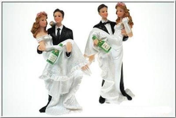 Brautpaar Hochzeitstorte  Brautpaar für Hochzeitstorte Hochzeitspaar Sekt
