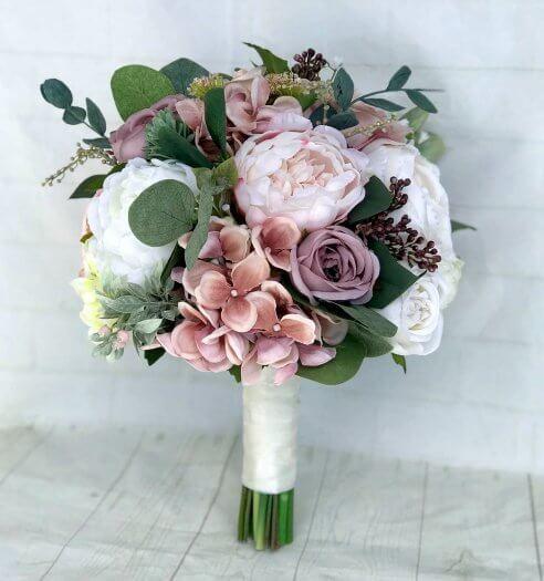 Brautstrauß Bestellen  Brautstrauß aus Kunstblumen