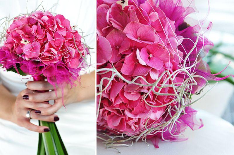 Brautstrauß Hortensien  Brautstrauß mit Hortensien aber nicht in Pink und