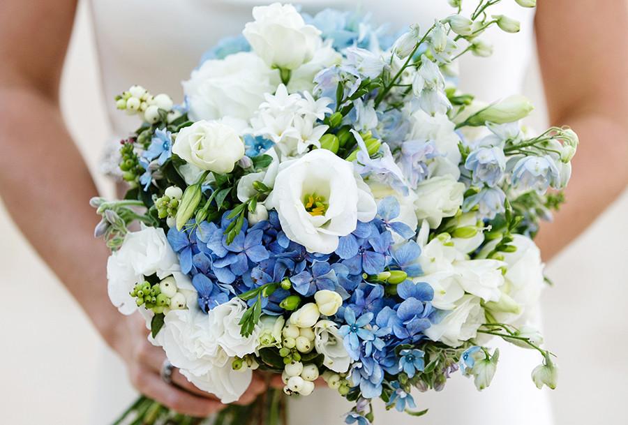 Brautstrauß Hortensien  Ideen für einen Brautstrauss in Blau