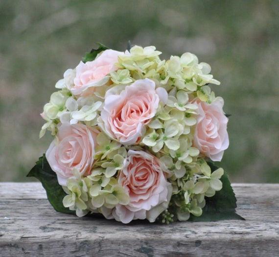 Brautstrauß Hortensien  Seide Hochzeitsstrauß Brautstrauß Andenken Bouquet Bridal