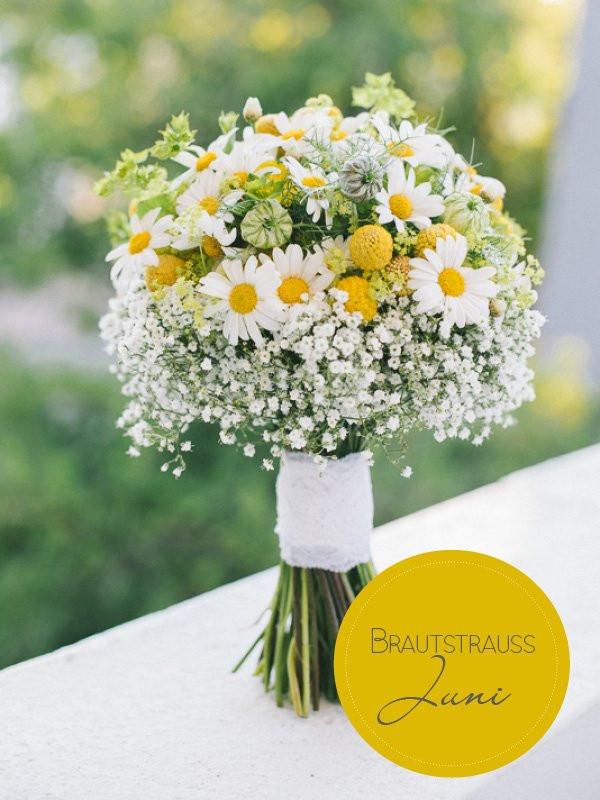 Brautstrauß Juni  Brautstrauß des Monats Ein fröhlicher Sommerstrauß